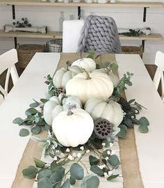 Thanksgiving Table Settings, Thanksgiving Decorations, Seasonal Decor, Fall Arrangements, Fall Table, Pumpkin Decorating, Fall Home Decor, Fall Pumpkins, Fall Crafts