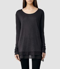 Women's Miro Long Sleeved T-shirt (Cinder) -