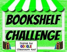 Bookshelf Challenge Digital and Printable Versions by The Digital Daydreamer