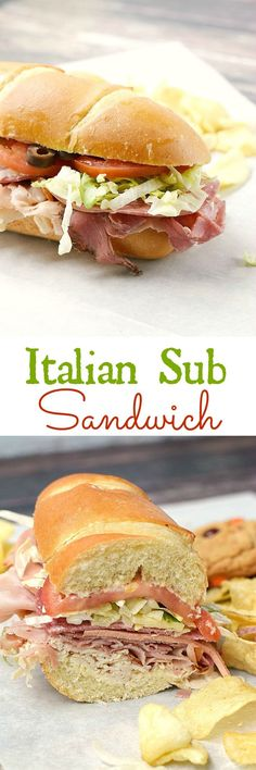 Skip the sandwich shop and make your own Italian Sub Sandwich at home, they taste better and cost much less