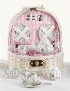 Little Sips Chintz Tea Set from Victorian Trading Co.