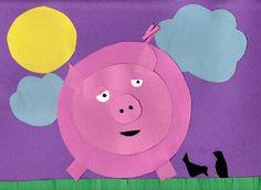 Paper Pig on a Farm