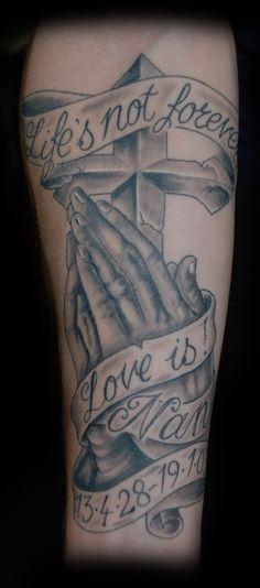 praying hands tattoos | Praying Hands Cross Tattoo - Free Download Tattoo #4667 Praying Hands ...