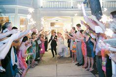 Wedding Sparkler Send Off   Caroline Joy Photography   Allan House   Austin Weddings   Pearl Events Austin