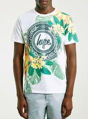 Hype White Print T-Shirt*