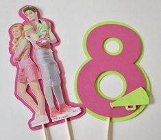 1 Disney Zombie Inspired Birthday Cake Topper, Centerpiece, Birthday Party Decorations, Any Age Zombie Birthday Cakes, Zombie Birthday Parties, Glitter Birthday Parties, Lego Birthday Party, Disney Birthday, Birthday Cake Toppers, Zombie Disney, Zombie Party Decorations, Birthday Party Decorations