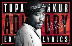 New Tupac Advisory Poster - Rare 2pac 24x36 Print HSE
