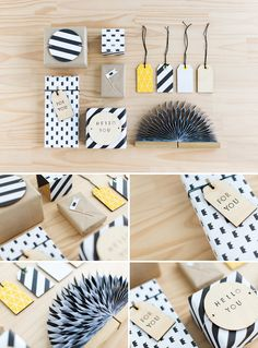 We took inspiration from classic kraft paper and brought it to life using our King Wrapping Paper and other crafty materials. This stylish gift wrapping is perfect for any occasion – personalise the stamped message to the recipient for a very special touch.