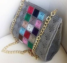 Discover thousands of images about Handmade Crocheted Multi Color Women Shoulder Bag 5 mm Plastic Crochet Clutch, Crochet Handbags, Crochet Purses, Crotchet Bags, Knitted Bags, Beaded Purses, Beaded Bags, Crochet Shoulder Bags, Embroidery Bags