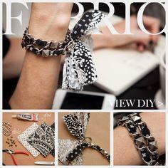 Dear Stella Fabrics DIY Woven Chain Bracelet Feature www.trinketsinbloom.com