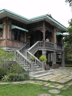 Traditional Philippine House ( Bahay na Bato ) Philippine Architecture, Filipino Architecture, Tropical Architecture, Architecture Design, Vernacular Architecture, Filipino House, Bali, Bahay Kubo, Philippine Houses