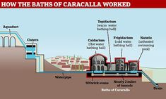 Baths of Carcalla: Ancient oven heating water in baths years ago open to public for first time Wood Stove Water Heater, Roman Bath House, Marble Columns, Round House, Light Installation, During The Summer, Roman Empire, Baths, Oven
