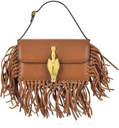 Valentino Gryphon Fringe Leather Flap Bag