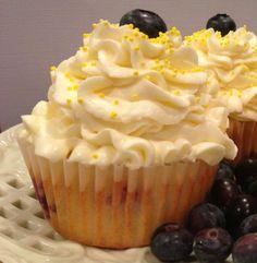 These are divine!! Lemon Blueberry Mascarpone Cupcakes | The TipToe Fairy