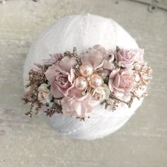 Handmade Headbands, Floral Headbands, Floral Crowns, Small Flowers, Pink Flowers, Shabby Chic Christmas Ornaments, Gold Accents, Embellishments, Diy Crafts