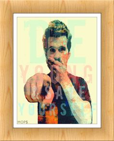 "DiE YOUNG & SaVE YoURSELF (Jesse Lacey of Brand New) 8x10"" Digital Illustration High Gloss Print by MOPS"