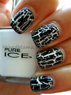 31 Day Challenge! Day 7- Black and White Nails