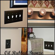 oil rubbed bronze spray paint for switch/outlet covers or light fixtures