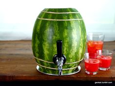 Watermelon keg! Turn your fruits into beverages and then use their corpses to drink your beverage. MWAHHAHA!