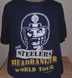 FREE Shipping vintage 1994 Pittsburgh Steelers football t shirt XL by vintagerhino247 on Etsy