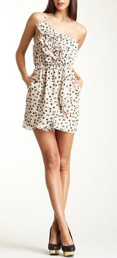 ruffled dot dress / BCBGeneration