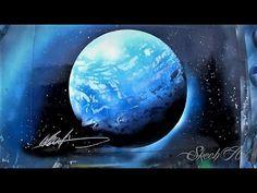 Making A Moon: Super Fast Spray Paint Art Tutorial - YouTube