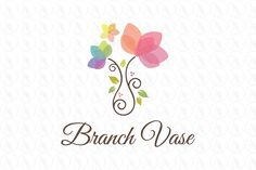 Branch flowers vase - $295 http://www.stronglogos.com/product/branch-flowers-vase #logo #design #sale #wedding #events #florist #floral #gift #shop