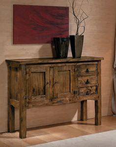 Color Nogal, Buffet, Storage, Furniture, Home Decor, Accessories, Rustic Style, Solid Oak, Rustic Furniture