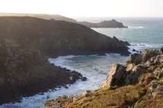 Looking out over Pendour Cove at Zennor towards the distinctive headland of Gurnard's head Cow Shed, St Just, Stone Quarry, West Cornwall, Paradise On Earth, Handfasting, St Ives, Bouldering
