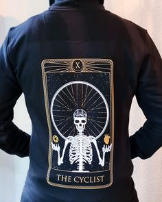 The Cyclist - Zipper black - Cyclepunks.cc shop Herringbone, Kangaroo, Punk, Graphic Sweatshirt, Zipper, Embroidery, Sweatshirts, Sleeves, Fabric