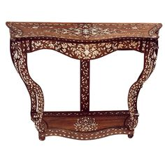 Silver and mother of pearl- inlaid Indian console table. India,