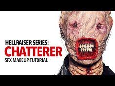 Hellraiser: Chatterer special fx makeup tutorial - YouTube