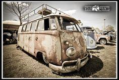rust , slammed vw bus