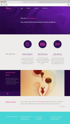Blob Media Brand Identity by Oanna Turta, via Behance