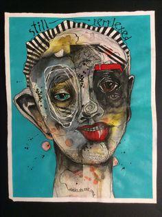 Deb Weiers ~ I like the abstraction in the portraiture Abstract Portrait, Abstract Art, Modern Art, Contemporary Art, A Level Art, Wow Art, Weird Art, Outsider Art, Art Plastique