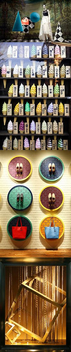 the shoes in colourful circles