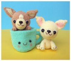 Etsy の Chihuahua Tea Cup Puppy PDF Crochet Pattern by jaravee