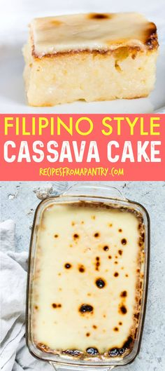 Looking for the BESTCassava Cakerecipe on the internet? You've found it! This EASYCassava Cakerecipe, made with grated cassava, is a popular dessert is in the Philippines and tastes oh-so-good. This Cassava Pudding is one to add to your Cassava Recipes.#filipinocassavacake #howtocookcassavacake #howtomakecassavacake #easycassavacakerecipe #cassavacakerecipe #cake #cassavacakepanlasangpinoy #filipinorecipe #kamotengkahoy #balinghoy #cassavapudding via @recipespantry