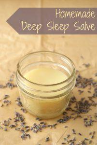 DIY Homemade Deep Sleep Salve Recipe - 2 tbsp coconut oil 2 tbsp grapeseed oil 2 tbsp beeswax 15 drops lavender essential oil 15 drops cedarwood essential oil Click pin for Instructions.