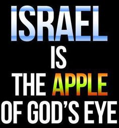 "Zechariah 2:8  (KJV)   ""For thus saith the Lord of hosts; After the glory hath he sent me unto the nations which spoiled you: for he that toucheth you toucheth the apple of his eye.""  -  http://biblehub.com/kjv/zechariah/2.htm"