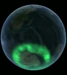 Aurora Borealis in a view from space