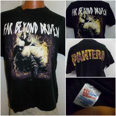 Vintage 1994 Pantera FAR BEYOND DRIVEN Rare Cover Version Mens T Shirt Size XL #Hanes #BasicTee
