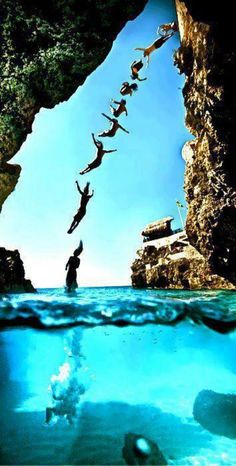 jump off a cliff, into the water: summer bucket list must
