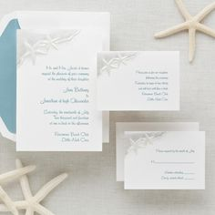 Starfish Wedding Invitation - Beach Wedding Invitations
