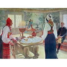 Carl Larsson -  our home Christmas scene