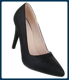 Elegante Damenschuhe High Heels Stiletto Pumps Abendschuhe Lack Optik Gr. 36 40