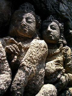 Faces From The Past - Borobudur, Indonesia
