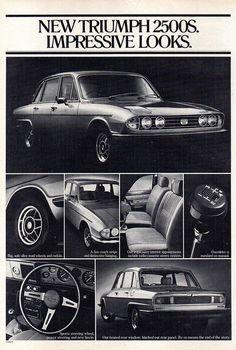 1977 Triumph 2500S Auaaie Original Magazine Advertisement | Flickr Triumph 2000, Triumph Motor, Triumph Sports, Triumph Car, Morgan Cars, Van Car, Australian Cars, Car Brochure, Vintage Cars