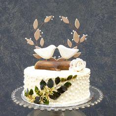 Rustic Beach Wedding Cake Topper, Wood Love Birds Topper, Rustic ...