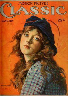 Vintage Movie Magazine Cover - Marion Davies c. 1920